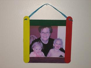 Grandma Lizzies House tongue depressor frame 002