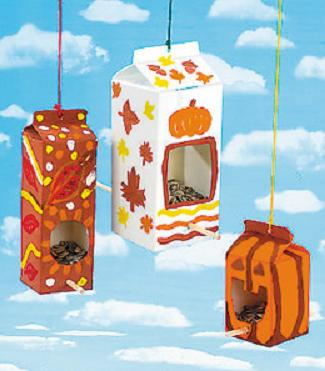 Fall Bird Feeders