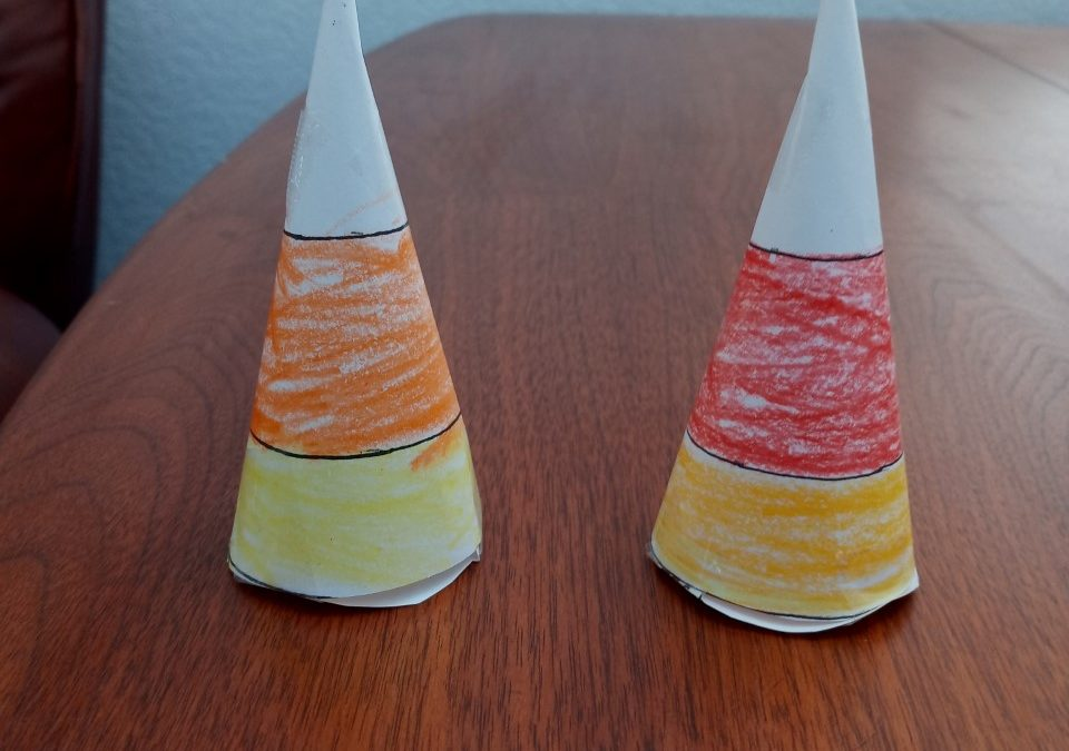 Candy Corn Decoration or Treat Holder