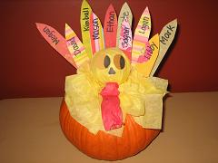 Pumpkin Turkey Centerpiece