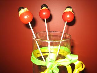 Cherry Tomato Lollipops and Other Summer Snacks