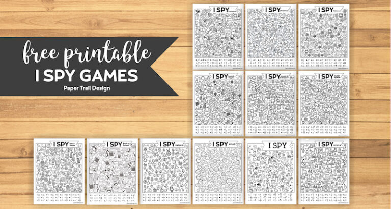 Free I Spy Printables for Kids